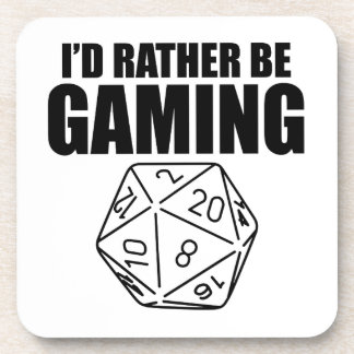 Rather Be Gaming (D20) Drink Coaster