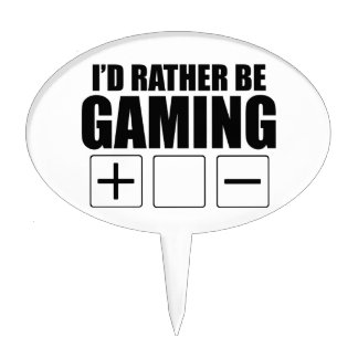 Rather Be Gaming (FATE) Cake Picks