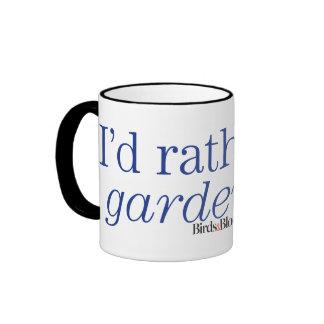 Rather Be Gardening Ringer Mug
