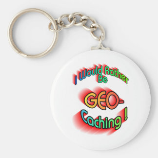 Rather Be Geocaching Keychains