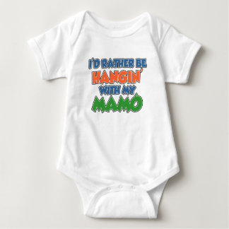 Rather Be Hanging With Mamo Baby Bodysuit