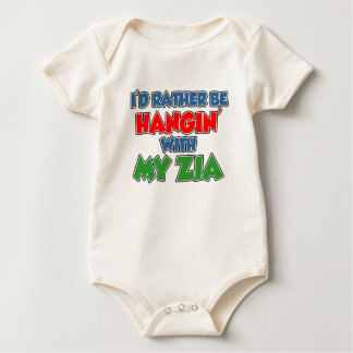 Rather Be Hanging With Zia Baby Bodysuit