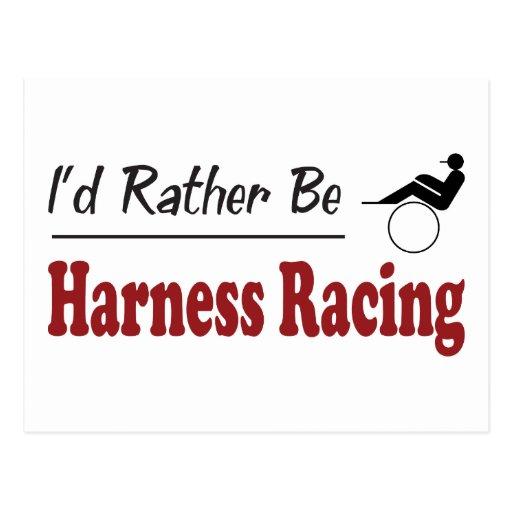 Rather Be Harness Racing Postcard