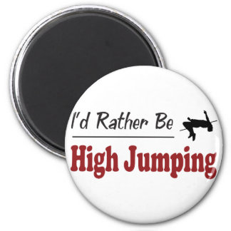 Rather Be High Jumping Refrigerator Magnets