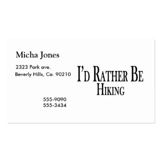 Rather Be Hiking Business Cards