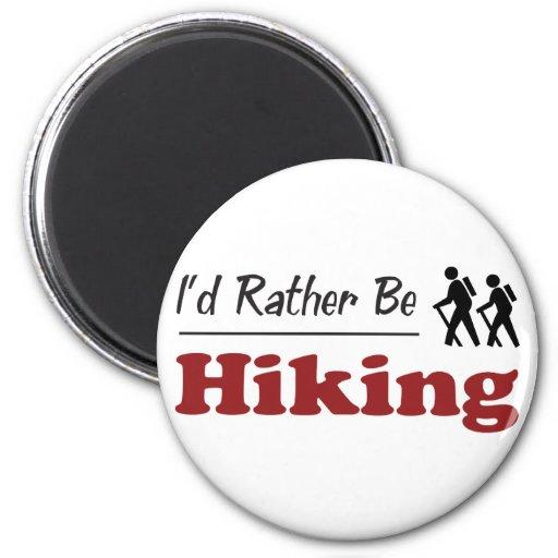 Rather Be Hiking Refrigerator Magnet