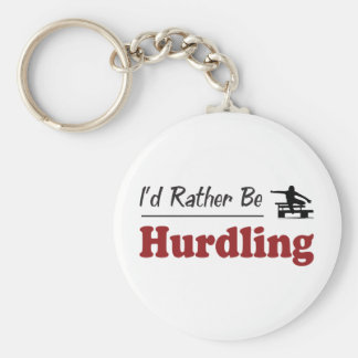 Rather Be Hurdling Keychain