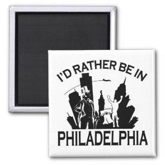 Rather be in Philadelphia 2 Inch Square Magnet