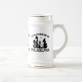 Rather be in Philadelphia Beer Stein