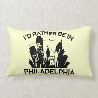 Rather be in Philadelphia Lumbar Pillow