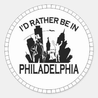 Rather be in Philadelphia Round Sticker