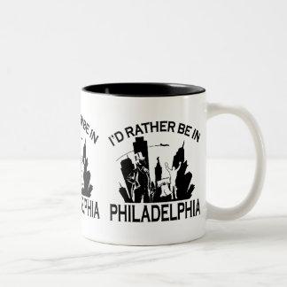 Rather be in Philadelphia Two-Tone Coffee Mug
