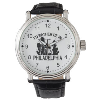 Rather be in Philadelphia Vintage Leather Watch