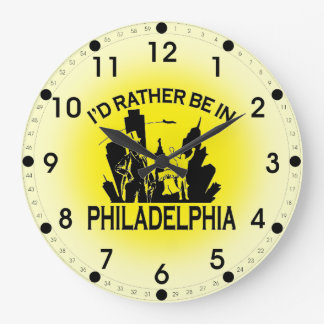 Rather be in Philadelphia Wall Clock