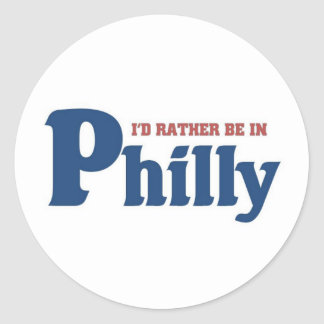 Rather be in Philly Classic Round Sticker