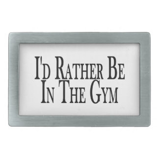 Rather Be In the Gym Belt Buckles