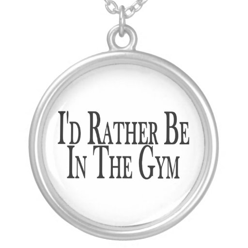 Rather Be In the Gym Necklace