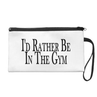 Rather Be In the Gym Wristlet