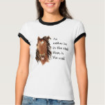 Rather be In the Stall than Mall Horse Humor Shirt