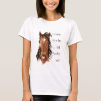 Rather be In the Stall than Mall Horse Humor T-Shirt