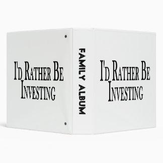 Rather Be Investing Vinyl Binder
