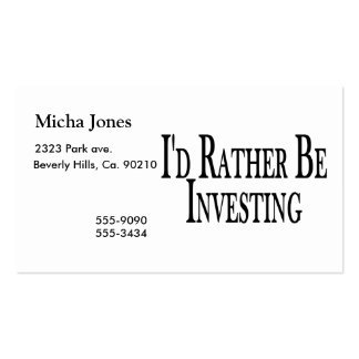 Rather Be Investing Business Card