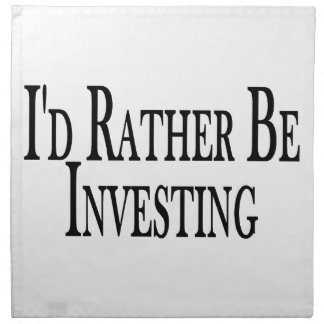 Rather Be Investing Cloth Napkin
