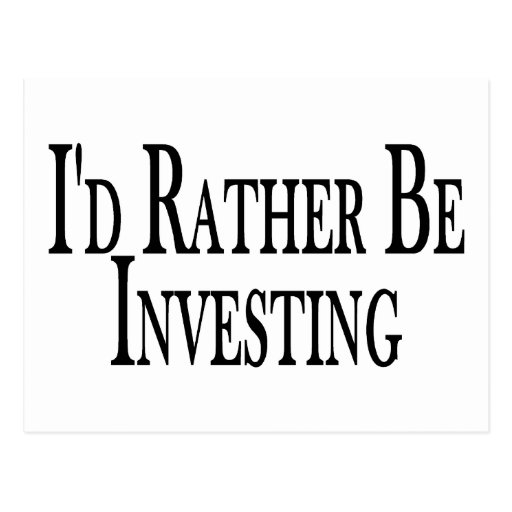 Rather Be Investing Postcard