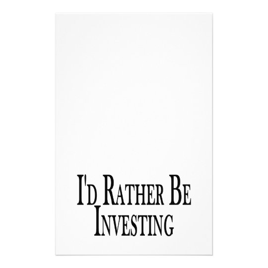 Rather Be Investing Stationery