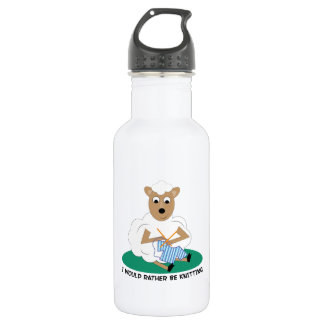 Rather Be Knitting 18oz Water Bottle