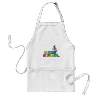 rather be knitting adult apron