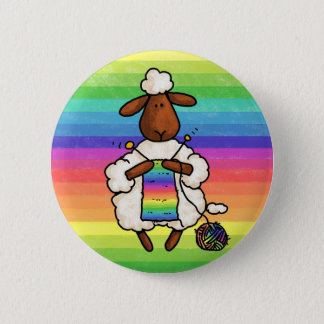 rather be knitting pinback button