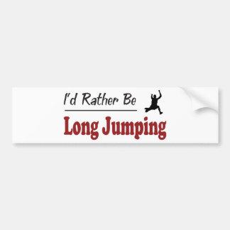 Rather Be Long Jumping Car Bumper Sticker