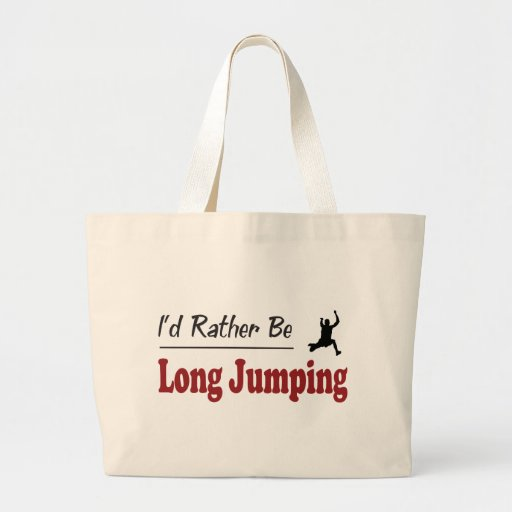Rather Be Long Jumping Canvas Bag