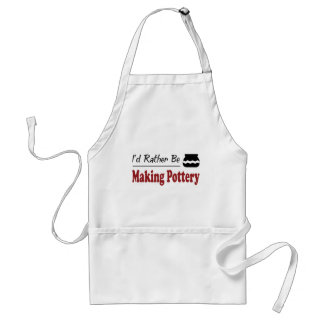 Rather Be Making Pottery Adult Apron