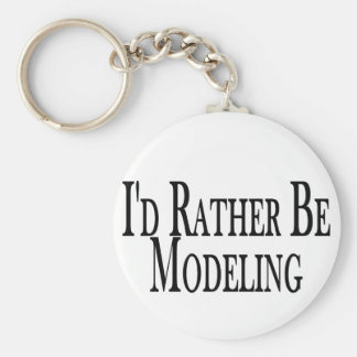 Rather Be Modeling Keychain