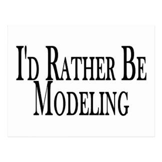 Rather Be Modeling Postcard