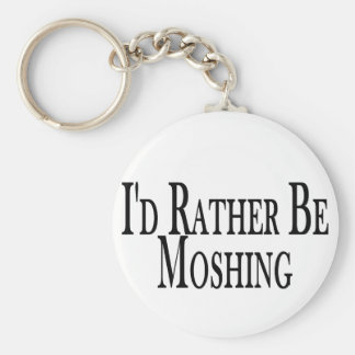 Rather Be Moshing Keychain