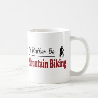 Rather Be Mountain Biking Coffee Mugs