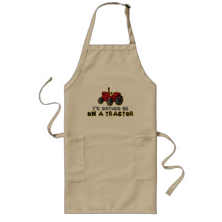 Rather Be On A Tractor Long Apron