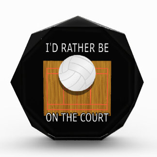 Rather Be on the Court Volleyball Award