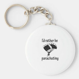 Rather Be Parachuting Basic Round Button Keychain