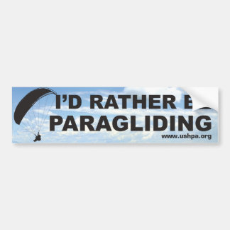 Rather Be Paragliding Bumper Sticker
