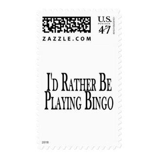 Rather Be Playing Bingo Postage Stamp