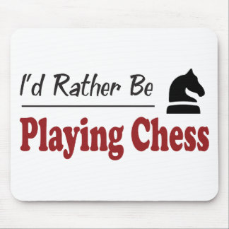 Rather Be Playing Chess Mouse Mat