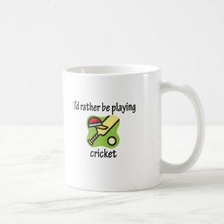 Rather Be Playing Cricket Coffee Mug