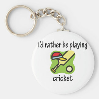Rather Be Playing Cricket Keychain