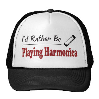 Rather Be Playing Harmonica Hat