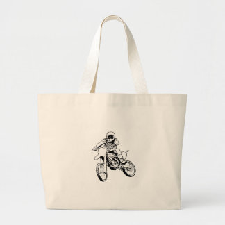 Rather Be Playing In The Dirt (Black/White) Jumbo Tote Bag