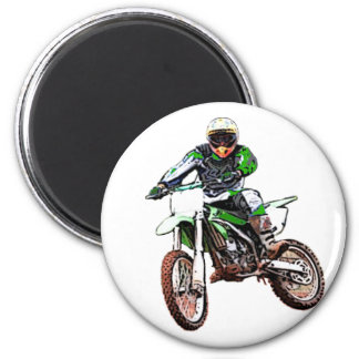 Rather Be Playing In The Dirt (Color) 2 Inch Round Magnet